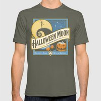 Halloween Moon Mens Fitted Tee Lieutenant SMALL