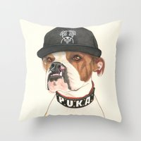 Boxer dog - F.I.P. - @chillberg (#pukaismyhomie)  Throw Pillow