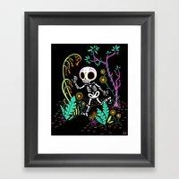 Sugar Skull Jungle Framed Art Print