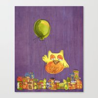 Flying Owl Canvas Print