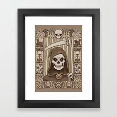 COWER BRIEF MORTALS Framed Art Print