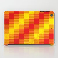Rusty Yellow And Red Mot… iPad Case