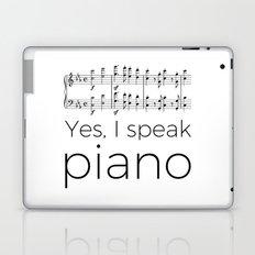 I speak piano Laptop & iPad Skin
