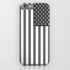 American flag - Gray scale version iPhone 6s Slim Case