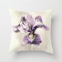 Opal Iris Throw Pillow