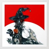 Voodoo Witch Art Print