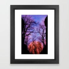 Moonrise Canyon Framed Art Print
