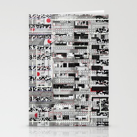 Opportunistic Species (P/D3 Glitch Collage Studies) Stationery Card