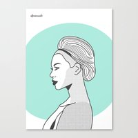 Profile B Canvas Print