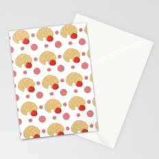 Breakfast pattern Stationery Cards