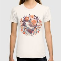 Wren Day Womens Fitted Tee Natural SMALL