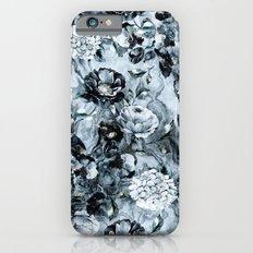 Black Flowers Slim Case iPhone 6s