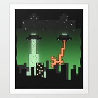 Suprise Arrival From An Unknown Planet! Art Print