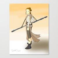 Rey x Miyazaki Canvas Print