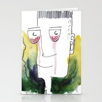 Red Tears Stationery Cards