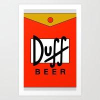 Duff Beer! Art Print