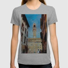 Florence as a watercolor painting Womens Fitted Tee Athletic Grey SMALL