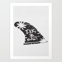 INK & SΛLT Art Print