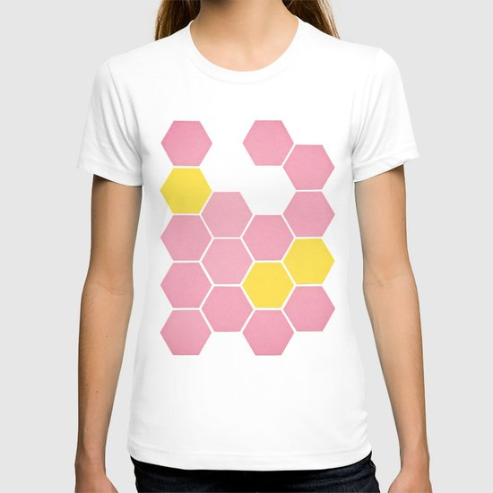Pink Honeycomb T-shirt