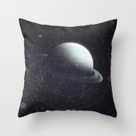 Space Sound Waves Throw Pillow