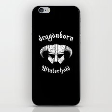 Dragonborn Helmet (Winterhold, Dovahkiin, Skyrim) iPhone & iPod Skin