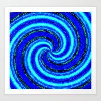 Abstract Blue Modern. Art Print