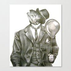 In which nothing says happy birthday like a fish in a suit Canvas Print