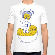 Soup Jumper White SMALL Mens Fitted Tee