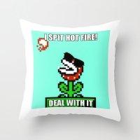 Spit Hot Fire! Throw Pillow