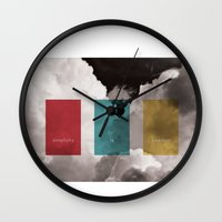 simplicity is freedom Wall Clock