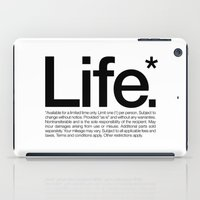 Life.* Available for a limited time only. (White) iPad Case