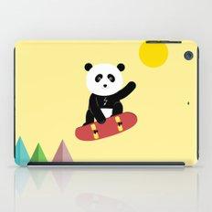 Panda on a skateboard iPad Case