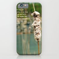 iPhone & iPod Case featuring Inspiration of a cattail by Captive Images Photography