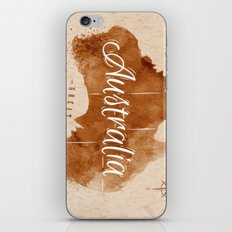 Vintage Australia Map iPhone & iPod Skin