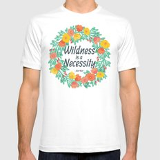 Floral Wildness Mens Fitted Tee White SMALL