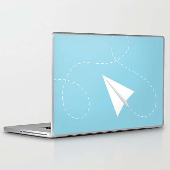 #38 Paperplane Laptop & iPad Skin