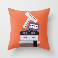 Nintendo Consoles Throw Pillow