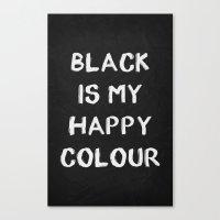 Black Happy 01 Canvas Print
