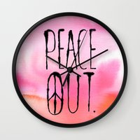 Peace Out. Wall Clock