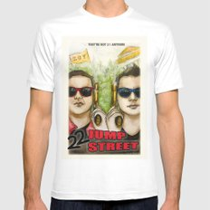 22 JUMP STREET White SMALL Mens Fitted Tee