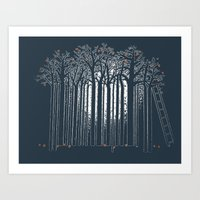 The Sunset in the Apple Orchard Art Print