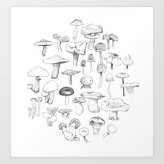 The Mushroom Gang Art Print
