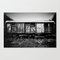 Here my train a comin' Canvas Print