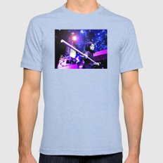 Leave the Light On Mens Fitted Tee Tri-Blue SMALL