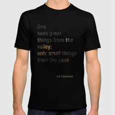 Valley SMALL Mens Fitted Tee Black