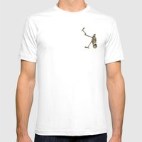 Spooky Scary Skeletons Mens Fitted Tee White SMALL