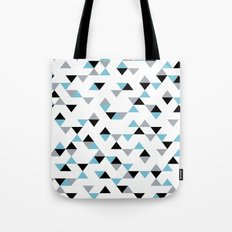 Triangles Ice Blue Tote Bag