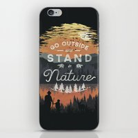 Go Outside and Stand in Nature iPhone & iPod Skin