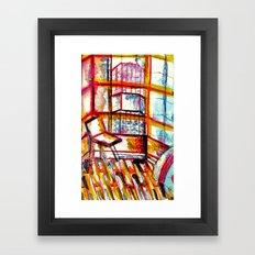 sun times & jerry's window Framed Art Print