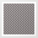 Diamond Deck Plate Art Print